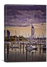 Spinnaker Tower from Priddy's Hard, Canvas Print