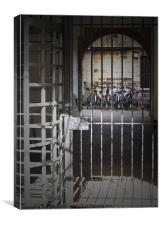 Banged up Bicycles in Oxford, Canvas Print