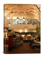 The Covered Market, Oxford, Canvas Print