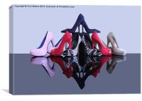 A Pyramid of Shoes, Canvas Print