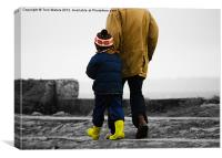 Walk With Me Daddy, Canvas Print