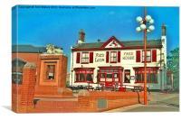 The Red Lion Pub Bitterne Southampton, Canvas Print