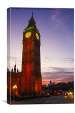 Sunset on Big Ben, Canvas Print