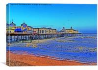 Hastings Pier Feeling Blue, Canvas Print