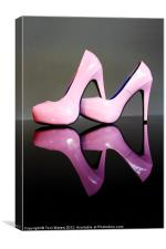 Pink Stiletto Shoes, Canvas Print