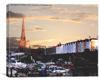 Sunset Over St Mary Redcliffe, Bristol, Canvas Print