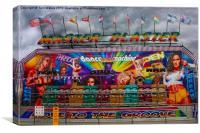 Master Blaster Funfair Ride, Canvas Print