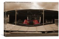 The Waltzer Fairground Ride in Sepia, Canvas Print