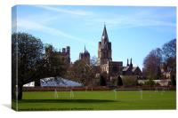 Oxford Spires from Christ Church Meadow, Canvas Print