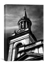All Saints Church Oxford Monochrome, Canvas Print