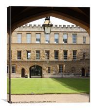 New College Oxford Quadrangle, Canvas Print