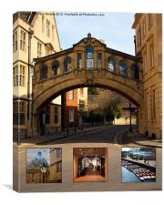 Visit Oxford Learning Pleasure Shopping, Canvas Print