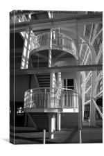 Pavilion Stairs at the Ageas Rose Bowl, Canvas Print
