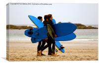 Sennen Surf Boys, Canvas Print