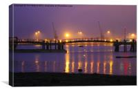 Sunset at Southampton Docks, Canvas Print