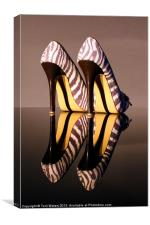 Zebra Print stiletto Shoes, Canvas Print