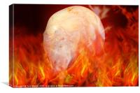 Flaming Crystal Skull, Canvas Print