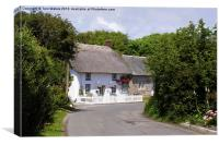 Cornish Thatched Cottage, Canvas Print