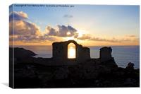 Sunset at Botallack, Canvas Print