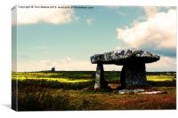 Lanyon Quoit And Ding Dong Mine, Canvas Print