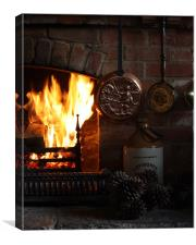 Fire Place, Canvas Print