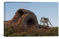 Cornish Mine Workings, Canvas Print