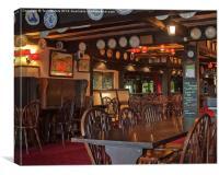 Inside Jamaica Inn, Canvas Print