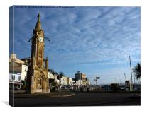 Mallock Clock Tower Torquay, Canvas Print