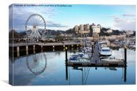 Torquay Marina And Ferris Wheel, Canvas Print