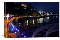Torquay The Strand At Night, Canvas Print