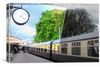 Paignton Station Clock, Canvas Print