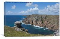 Lands End from Gwennap Head, Canvas Print