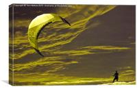 Surreal Surfing gold, Canvas Print