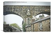 The Rooftops of Redruth , Canvas Print