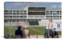 Watching Cricket, Canvas Print
