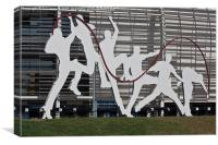 Cricket Art Sculpture Southampton, Canvas Print