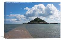 St Michael's Mount From The Causeway , Canvas Print