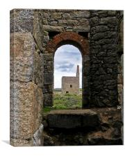 West Wheal Owles From Wheal Edward, Canvas Print