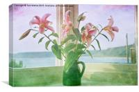 Seaside Lilies , Canvas Print