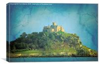 St Michael's Mount Textured , Canvas Print