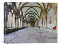Salisbury Cloister Remembers, Canvas Print
