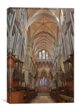 Salisbury Cathedral Quire And High Altar, Canvas Print