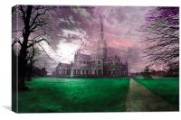 Colourful Salisbury Cathedral , Canvas Print