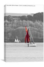 Isolated Yacht Carrick Roads, Canvas Print