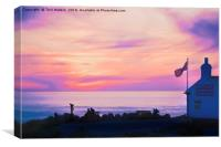First & Last Refreshment House Surreal Sunset , Canvas Print