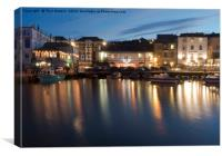 Busy Night at Custom House Quay, Canvas Print