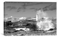Godrevy Splash Back, Canvas Print