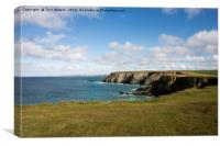 Godrevy to St Agnes, The North Cornwall Coastline, Canvas Print