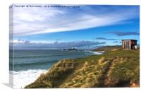 Godrevy Lifeguard Hut, Canvas Print