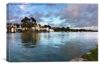 Evening High Tide in Mylor Bridge, Canvas Print
